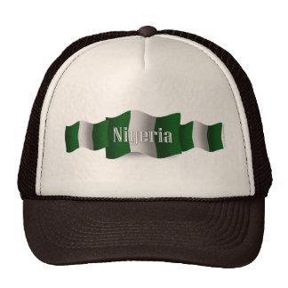Bandera que agita de Nigeria Gorra