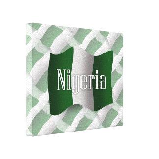 Bandera que agita de Nigeria Impresión En Lienzo