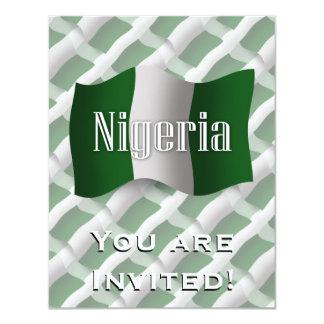 """Bandera que agita de Nigeria Invitación 4.25"""" X 5.5"""""""
