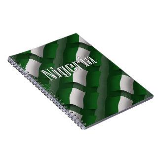 Bandera que agita de Nigeria Cuadernos