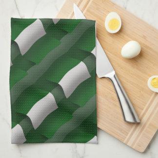 Bandera que agita de Nigeria Toallas De Cocina