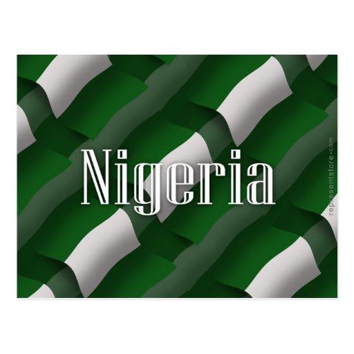 Bandera que agita de Nigeria Postales