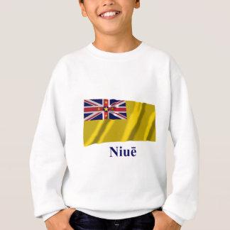 Bandera que agita de Niue con nombre en persona de Sudadera