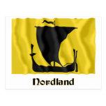 Bandera que agita de Nordland con nombre Postal
