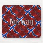 Bandera que agita de Noruega Tapete De Ratón