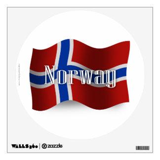 Bandera que agita de Noruega Vinilo