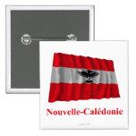 Bandera que agita de Nueva Caledonia con nombre en Pin