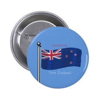 Bandera que agita de Nueva Zelanda Pins
