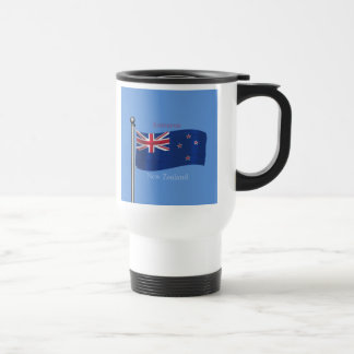 Bandera que agita de Nueva Zelanda Taza De Viaje