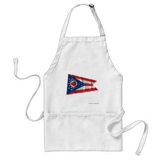 Bandera que agita de Ohio Delantal