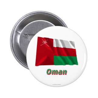 Bandera que agita de Omán con nombre Pin