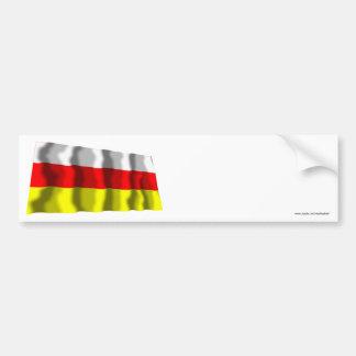 Bandera que agita de Osetia del Sur Pegatina Para Auto