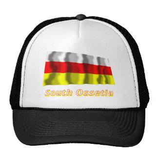 Bandera que agita de Osetia del Sur con nombre Gorra