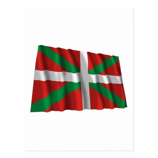 Bandera que agita de País Vasco (Euskadi) Tarjeta Postal