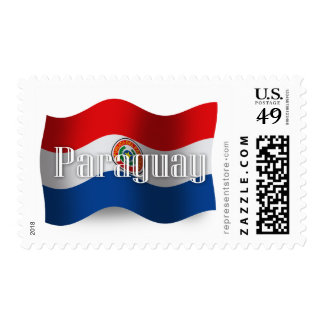 Bandera que agita de Paraguay Sello