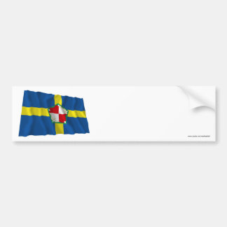 Bandera que agita de Pembrokeshire Pegatina De Parachoque