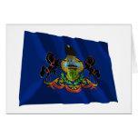 Bandera que agita de Pennsylvania Felicitaciones