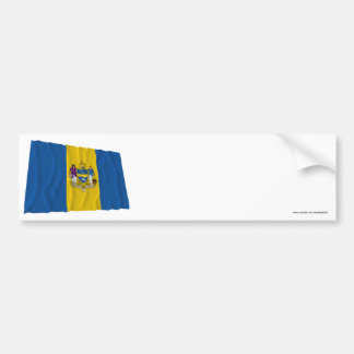 Bandera que agita de Philadelphia Etiqueta De Parachoque