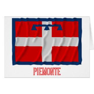 Bandera que agita de Piemonte con nombre Tarjeta De Felicitación