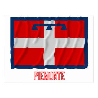 Bandera que agita de Piemonte con nombre Postal