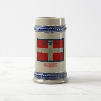 Bandera que agita de Piemonte con nombre Tazas De Café