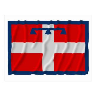 Bandera que agita de Piemonte Postal