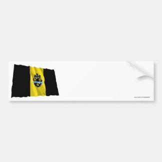 Bandera que agita de Pittsburgh Pegatina De Parachoque