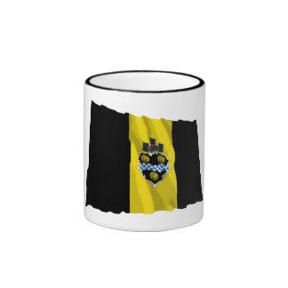 Bandera que agita de Pittsburgh Taza De Dos Colores