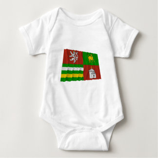Bandera que agita de Plzen T-shirt