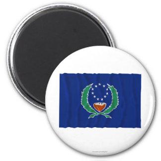 Bandera que agita de Pohnpei Imán Redondo 5 Cm