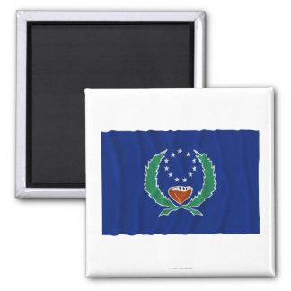 Bandera que agita de Pohnpei Imán Cuadrado