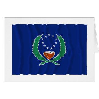 Bandera que agita de Pohnpei Tarjeta De Felicitación