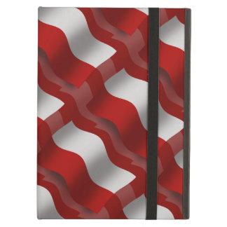 Bandera que agita de Polonia