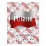 Bandera que agita de Polonia Comunicados Personalizados