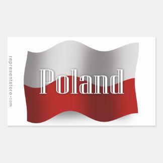 Bandera que agita de Polonia Rectangular Altavoces