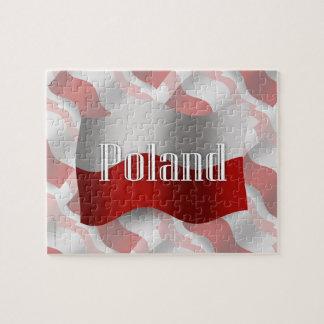 Bandera que agita de Polonia Rompecabeza Con Fotos