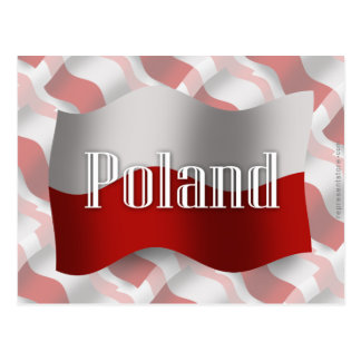 Bandera que agita de Polonia Tarjeta Postal