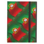 Bandera que agita de Portugal