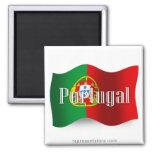 Bandera que agita de Portugal Imán De Nevera