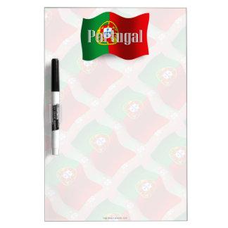 Bandera que agita de Portugal Pizarras Blancas De Calidad