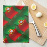 Bandera que agita de Portugal Toalla