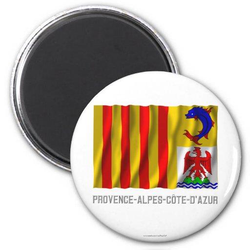 Bandera que agita de Provence-Alpes-Côte-d'Azur co Imán Para Frigorifico
