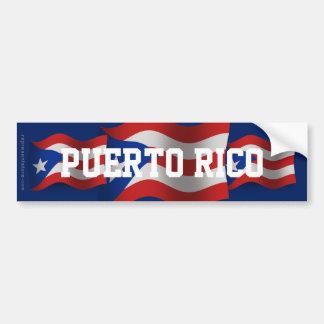 Bandera que agita de Puerto Rico Pegatina Para Auto