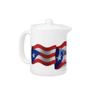 Bandera que agita de Puerto Rico