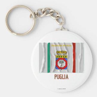 Bandera que agita de Puglia con nombre Llaveros