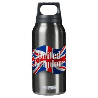 Bandera que agita de Reino Unido Botella Isotérmica De Agua