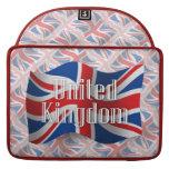 Bandera que agita de Reino Unido Funda Macbook Pro