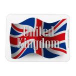 Bandera que agita de Reino Unido Imanes
