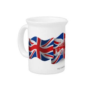 Bandera que agita de Reino Unido Jarron