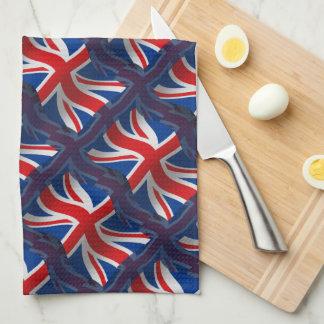 Bandera que agita de Reino Unido Toalla